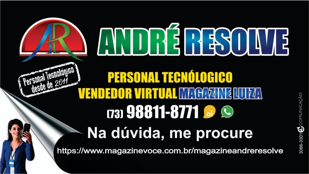 Banner: André, vendedor virtual do Magazine Luiza